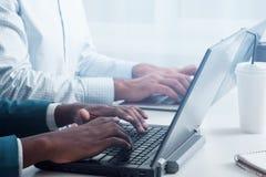 Optimierung der Website SEO mit neuen Technologien Stockbilder