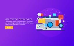 Optimisation de contenu Web, recherche de site Web, seo pour le contenu de Web, analytics de site Web, vente numérique photographie stock libre de droits
