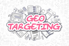 Optimisation de Geo - griffonnage Word magenta Concept d'affaires illustration de vecteur
