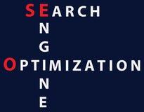 Optimisation de moteur de recherche - SEO Image libre de droits