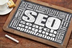 Optimisation de moteur de recherche - SEO Images stock