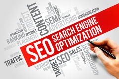 Optimisation de Search Engine images libres de droits