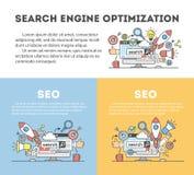 Optimisation de seo de concept dans le moteur de recherche Photos libres de droits