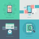 Optimisation de site Web pour le mobile Photo libre de droits