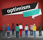 Optimism Attitude Hopeful Positive Thinking Concept Royalty Free Stock Images