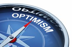 Optimism compass Royalty Free Stock Images