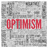 OPTIMISM Concept Word Tag Cloud Design Royalty Free Stock Photo