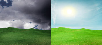 Optimism och Pessimism royaltyfri fotografi