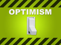 Optimism - personality concept Royalty Free Stock Photo