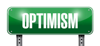 Optimism street sign illustration design Stock Photography