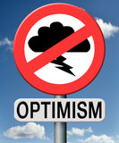 Optimism think positive and optimistic. Optimism,optimistic and positive thinking stock illustration