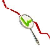 Optimismo: pesquisa pelos bons resultados Fotografia de Stock