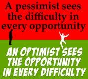 Optimismuspessimismus lizenzfreie abbildung