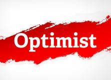 Optimist Red Brush Abstract Background Illustration stock illustration