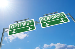 Optimist or pessimist concept. Stock Images