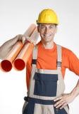 Optimist plumber. Royalty Free Stock Image