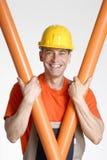 Optimist plumber. Stock Image