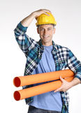 Optimist plumber. Royalty Free Stock Images