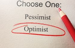 Optimist red circle Stock Image
