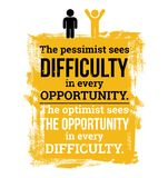 The optimist sees the opportunity royalty free illustration