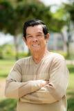 Optimistic Asian old man Royalty Free Stock Image