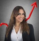 Optimistic businesswoman Stock Image