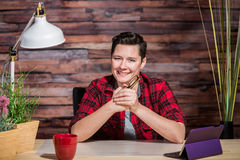 Optimistic Casual Office Worker Royalty Free Stock Image