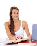 Optimistic female student Stock Image