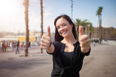 Optimistic girl Royalty Free Stock Photography