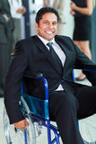 Optimistic handicapped businessman Royalty Free Stock Photos