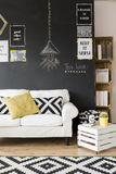 Optimistic living room Stock Images
