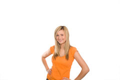 Optimistic and selfconfident woman. 1 Royalty Free Stock Photo