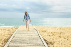 Optimistic way of life. Power of a Positive Woman. royalty free stock image
