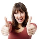 Optimistic woman Stock Photo
