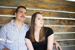 Optimistic Young Couple Stock Photo