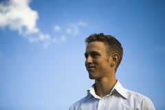 Optimistic young man Royalty Free Stock Image