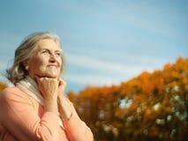 Optimistische vrouw Royalty-vrije Stock Afbeeldingen