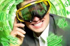 Optimistische zakenman Stock Foto's