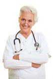 optimistisk doktorskvinnlig Arkivfoto