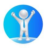 optimistisk logo för man 3D Arkivfoton