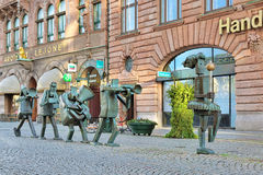 The Optimists Orchestra - sculpture in Malmo, Sweden Royalty Free Stock Photography