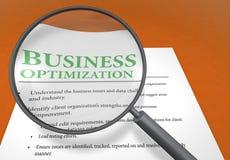 Optimização do negócio ilustração stock