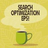 Optimización conceptual EPS de la búsqueda de la demostración de la escritura de la mano Proceso de exhibición de la foto del neg libre illustration