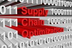 Optimización de la cadena de suministro stock de ilustración