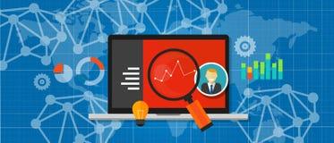 Optimización de la medida de funcionamiento del analytics del web del tráfico del sitio web Foto de archivo libre de regalías