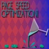 Optimización de la velocidad de la página del texto de la escritura El significado del concepto mejora la velocidad del cargament ilustración del vector