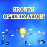 Optimización del crecimiento del texto de la escritura Significado del concepto que encuentra una alternativa con el negocio más  ilustración del vector