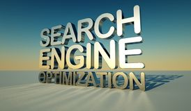 Optimización del Search Engine Foto de archivo libre de regalías