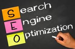 Optimización del Search Engine Foto de archivo