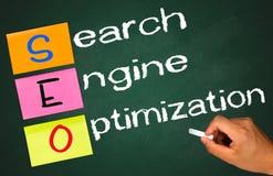 Optimización del Search Engine Fotos de archivo
